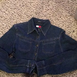 Women's blue jean button up